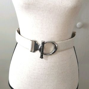 Chicos leather faux animal print belt s/m NEW